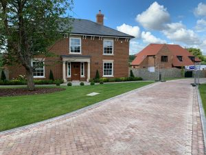 Paved driveway increase kerb appeal by local Kent stonemasons, Malling Masonry