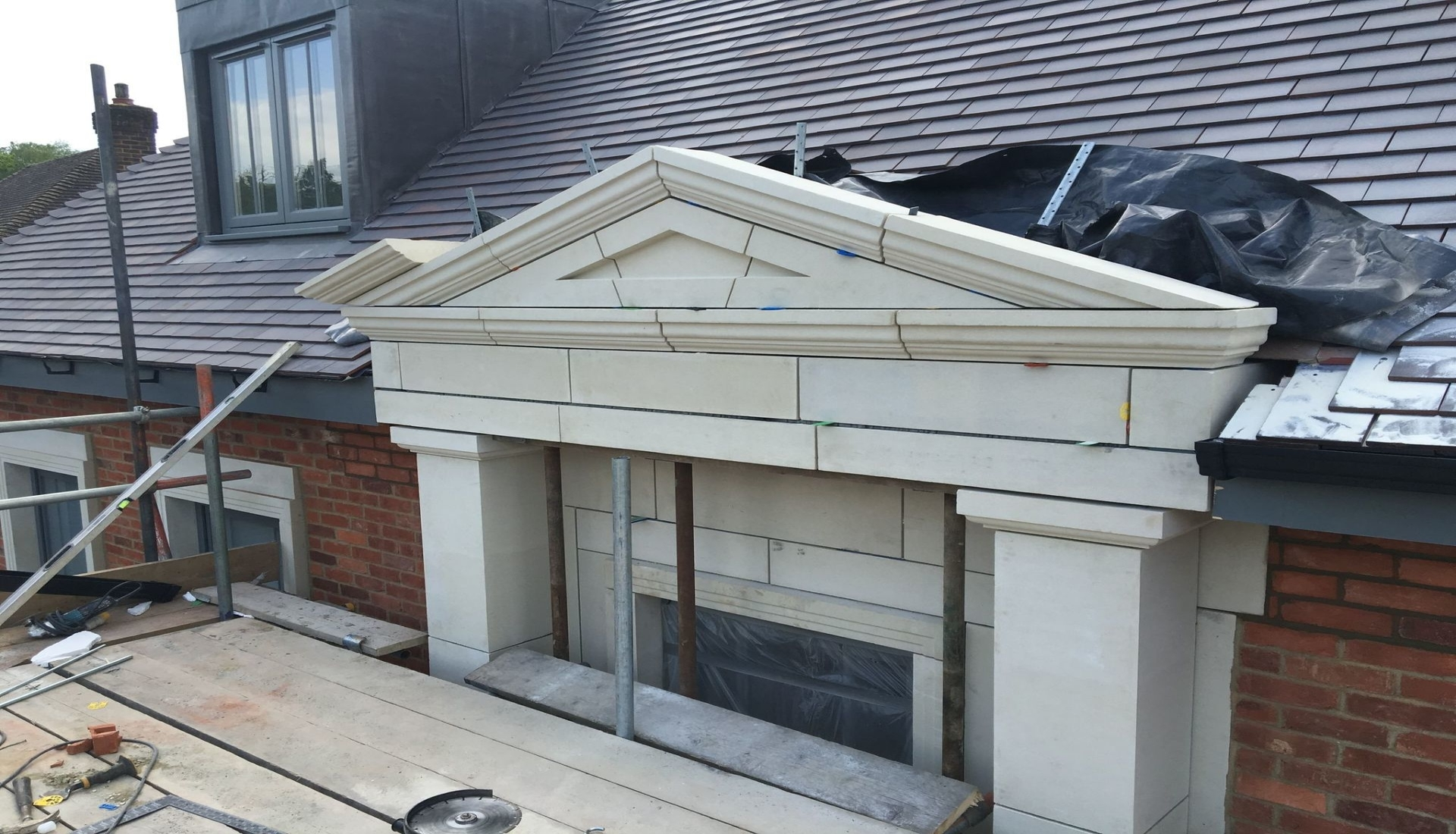 Cast Stone Porticos - Expert & Quality Craftsmanship by Malling Masonry Stonework & Restoration Specialists in Kent
