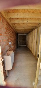 Pic of a residential shed building project in Tonbridge Kent by Malling Masonry
