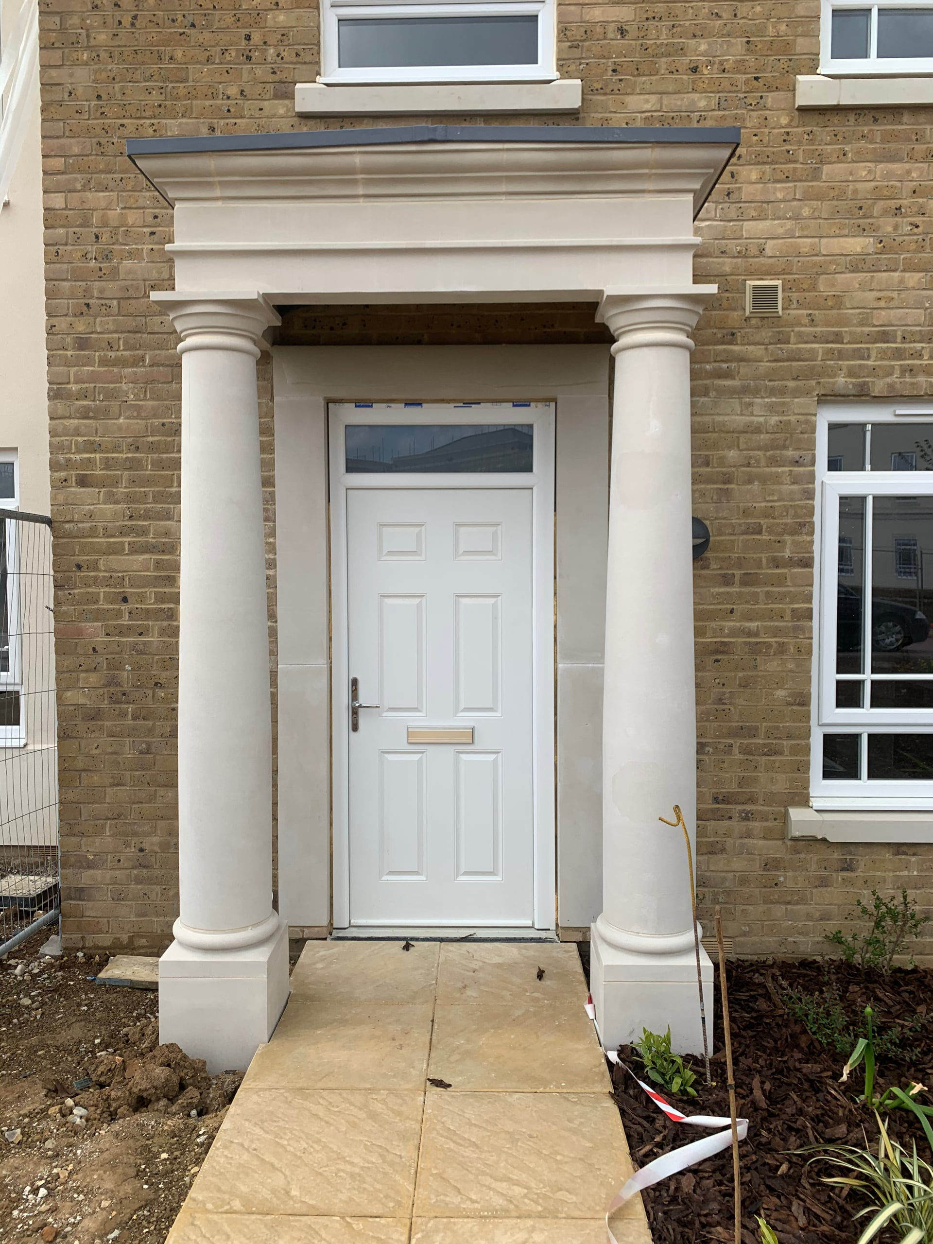Make A Grand Entrance with Bespoke Stone Portico Designs Porches - Malling Masonry