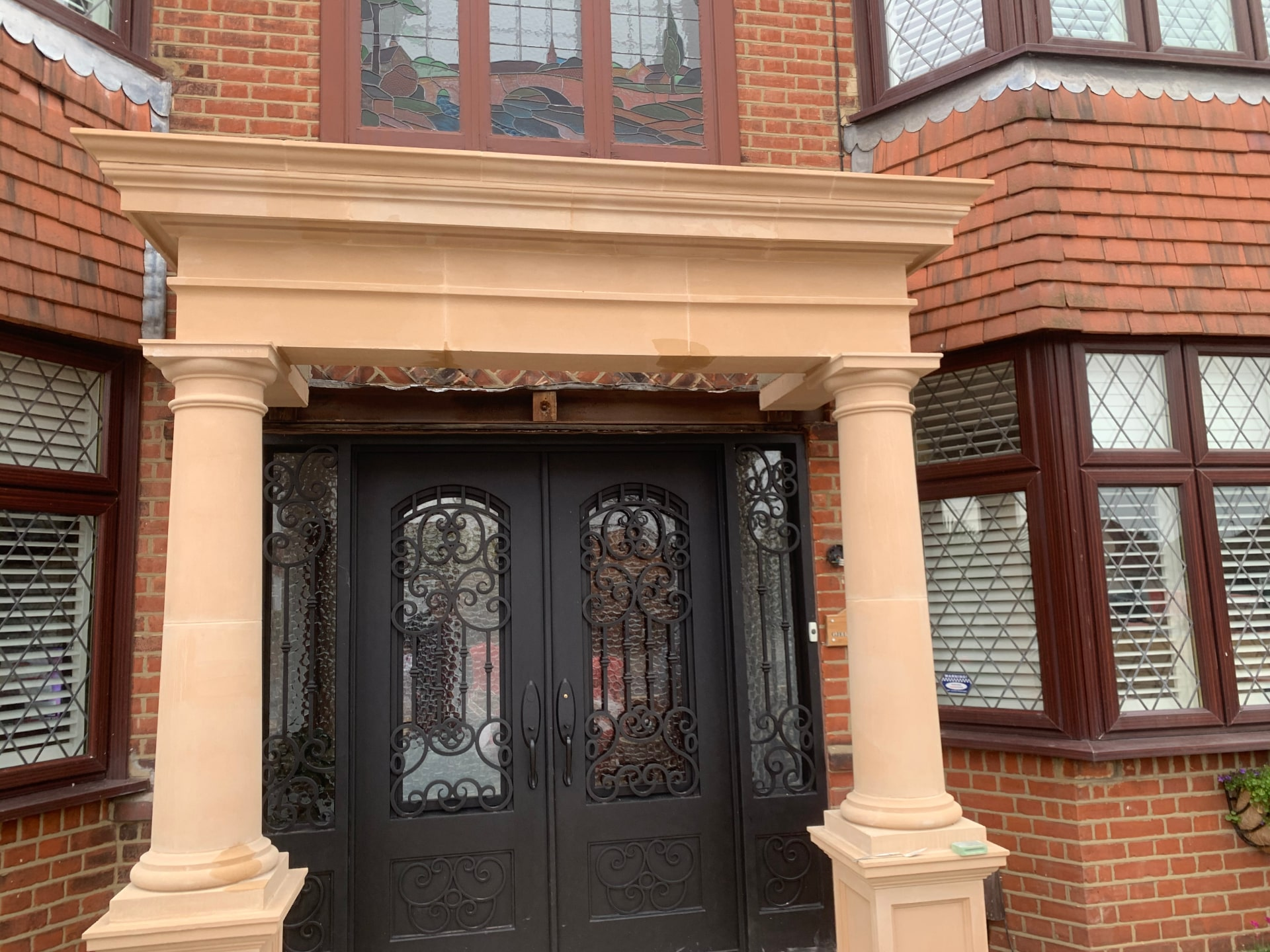 Visually striking stone portico porch designs and built in the uk by malling masonry add style & value. Creating a wow factor, beautify your home and makes for an excellent staging space