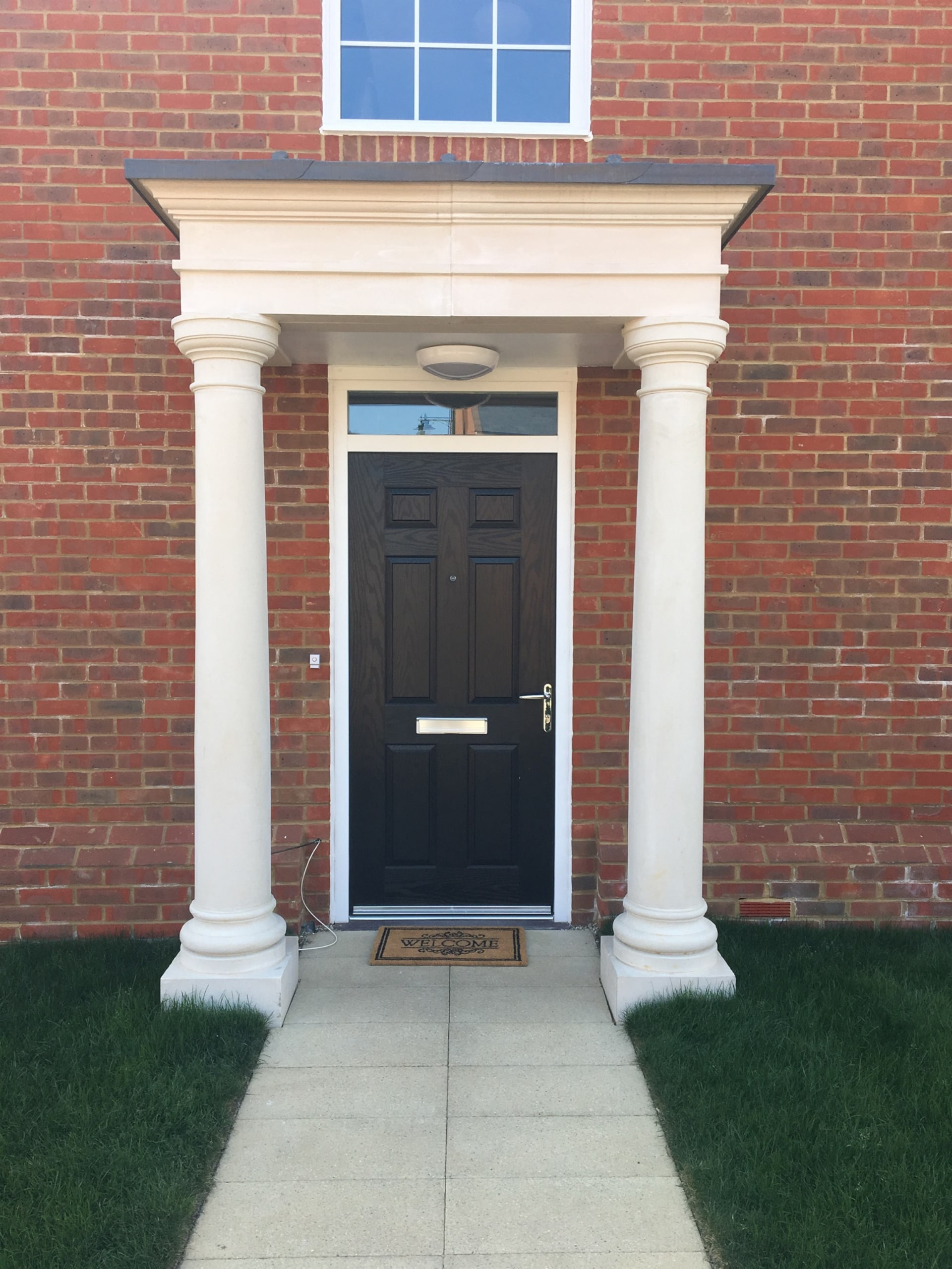 Beautiful stone portico ideas, porch pictures, and designs. For top kent entrance-porches built in the UK by Malling Masonry