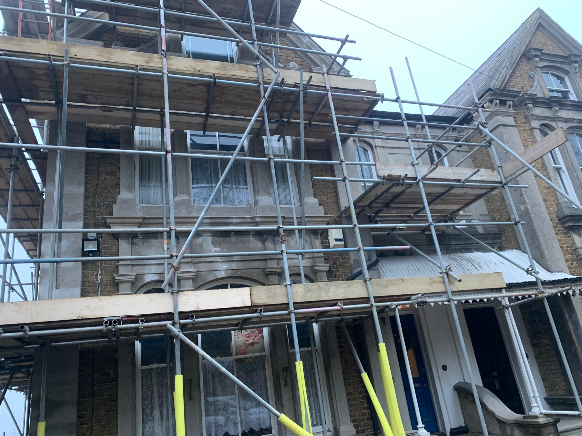 Malling Masonry Doff Cleaning service to restore Stonework to all elevations for this Kent residential property